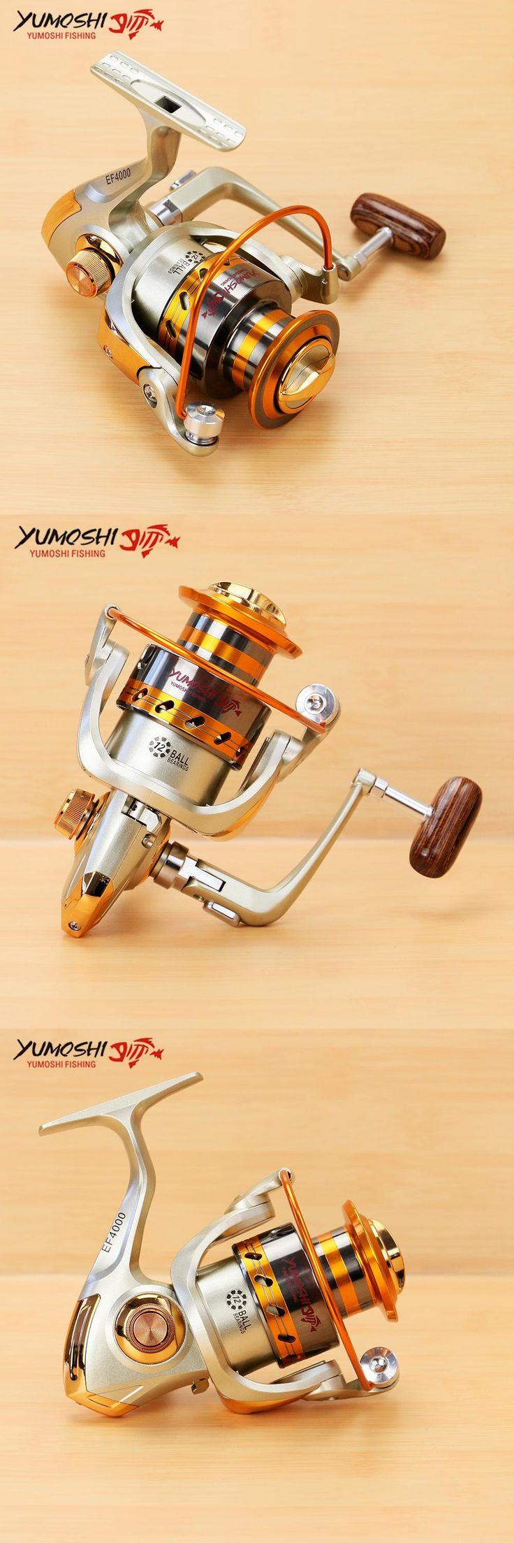 [Visit to Buy] Pesca Fishing Reel 12BB 5.2:1/4.1:1 Metal Spool Carretilhas de pecasaria Molinete para pesca Spinning Reel fishing accessories #Advertisement