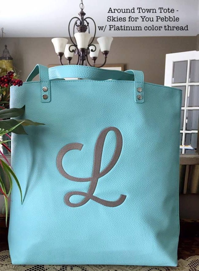 Around Town Tote in Skies for You On Sale in March