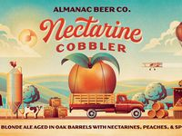 Almanac Beer Co. Peach Galaxy Beer Label (Close Up) by DKNG - Dribbble