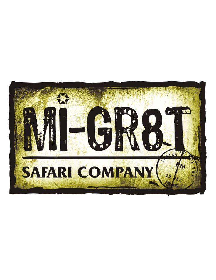 Logo Design Mi-Gr8t Safari Company #stonehut