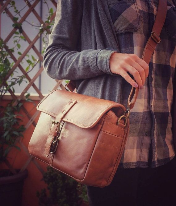 Leather camera bag for mirrorless o dslr  Leather di PiBuShop