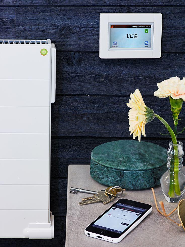 Styr värmen via din mobile med hjälp av Touch E3 styrsystemer från LVI. Det passar ihop med LVIs Yali radiatorer Digital, Parada, Ramo.