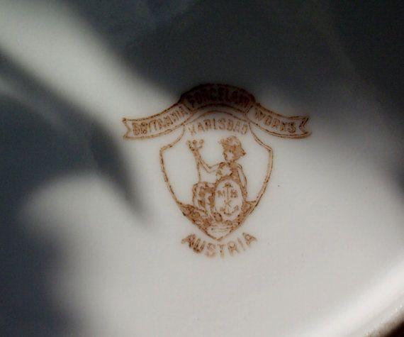 Hermosa 19thC Karslbad encontrado en francés antiguo porcelana