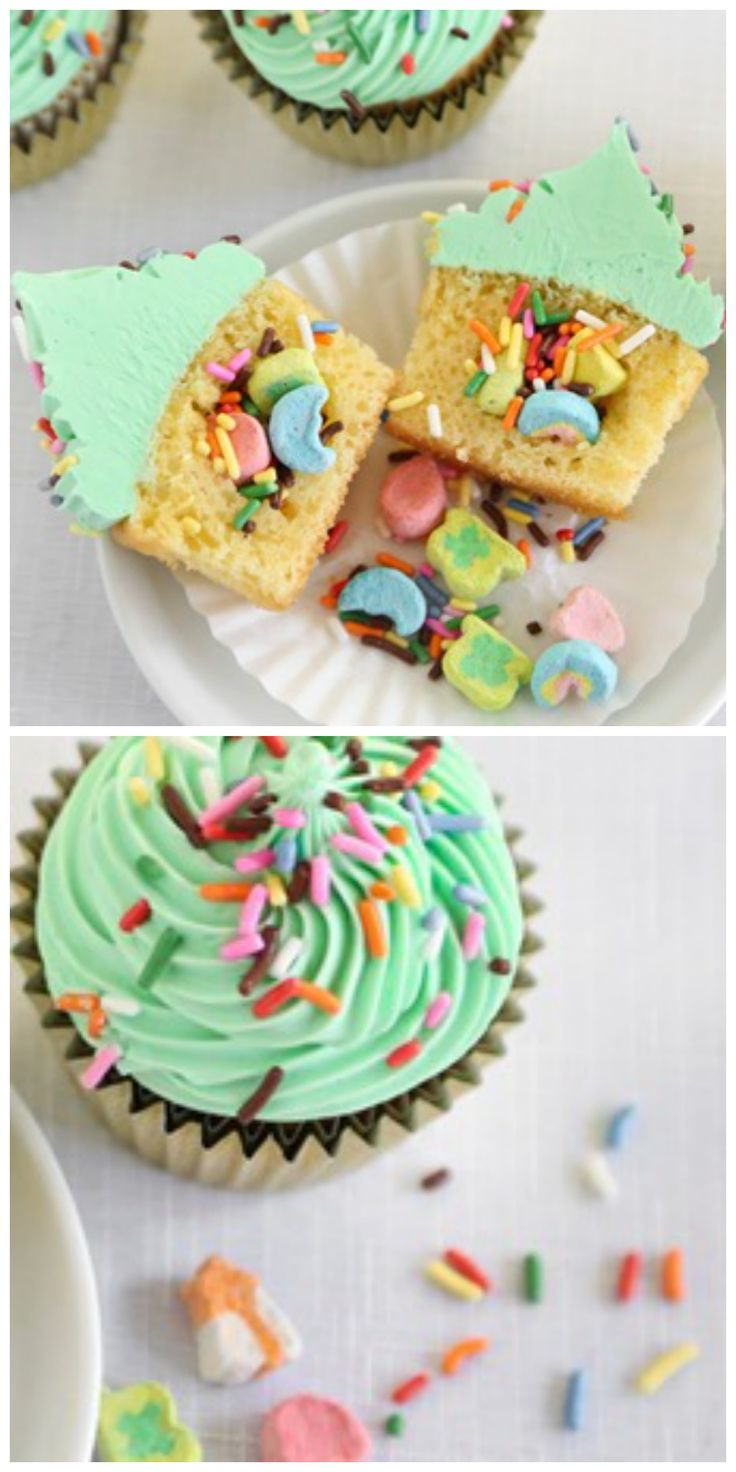 We can't guarantee you'll find actual gold, but we can promise there is a sweet surprise baked into these clever cupcakes made easy with the help of Betty Crocker cake mix and frosting!