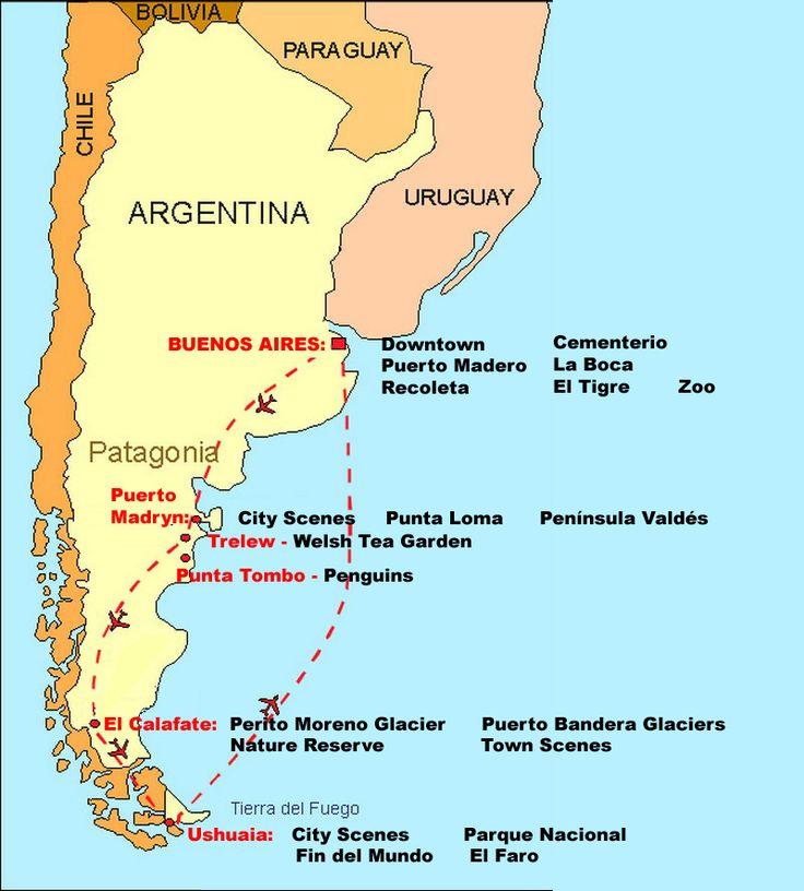 Patagonia+Location+Map | Language World, Tucson, AZ - Spanish Language Immersion in Argentina ...