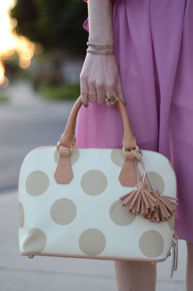 BRAHMIN: Polkadot Fashion, Brahmin Bags, Pur Handbags Luggage, Dots Bags, Brahmin Polka, Polka Dots Purses, Bags Clutches, Cute Handbags, Mk Handbags