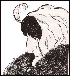 se io vedo la ragazza voltata con un grosso collo di pelliccia la vedo bene e chiara, ma non riesco a vedere in quei medesimi tratti il volto della vecchia dove la piega del collo diviene il naso e la collana la bocca.  Quando vedo il volto spigoloso della vecchia non riesco a vedere la minuta bellezza della giovane perchè è divenuta sfondo e viceversa