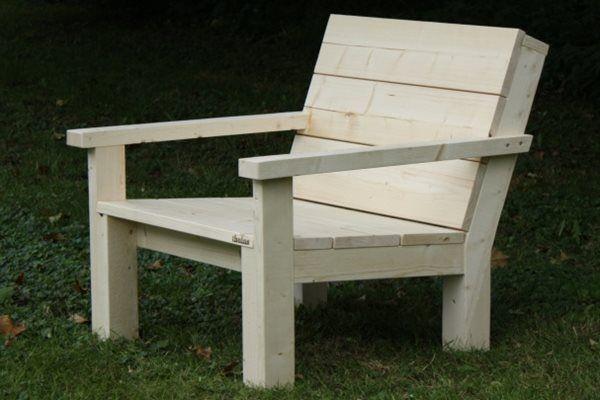 Steigerhouten Loungestoel Landelijk, onbehandeld