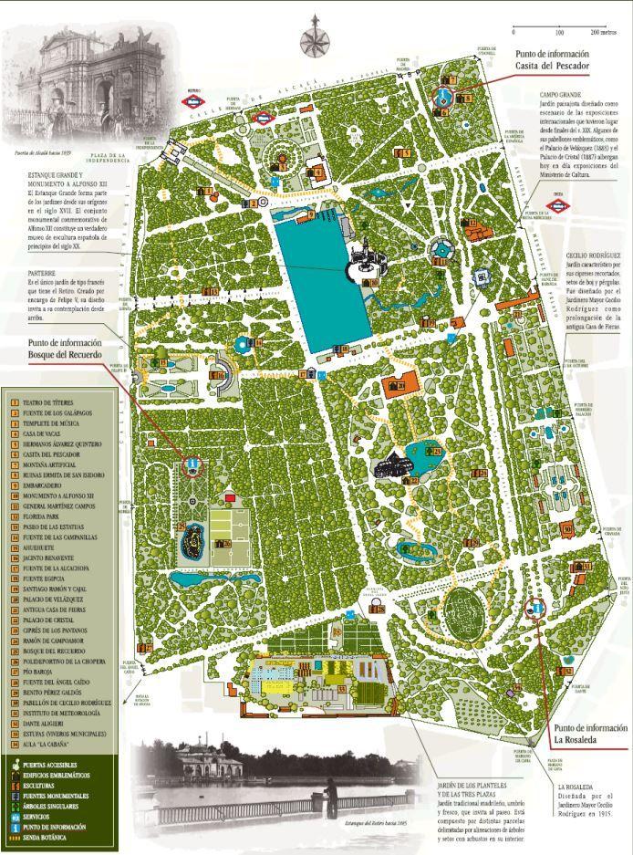 Mapa Parque Del Retiro.Mapa Parque El Retiro Parque Del Retiro Parques Y Parque