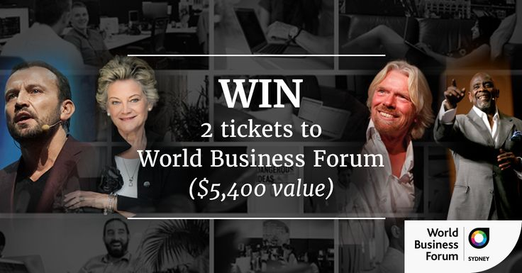 Win 2 Tickets to World Business Forum Sydney ($5400 value)