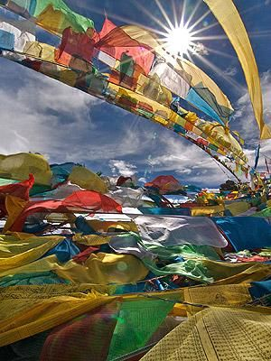 """""""Prayer flags in Tibet""""  My wish for Tibet is that their Spiritual Leader may be able to go Home to his People with no fear of being imprisoned, or worse by China's occupying Army. Every Human being has the right to Freedom ~ <3 FREE TIBET <3 ~  May Peace, Light, Love, and Justice prevail"""