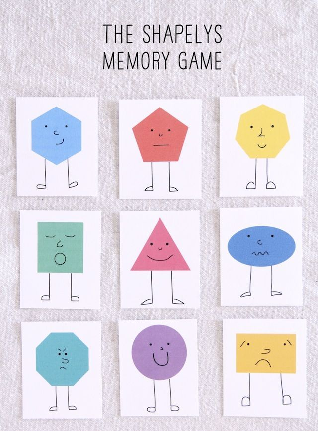 The Shapelys Memory Game Memory Games For Kids Games For Kids