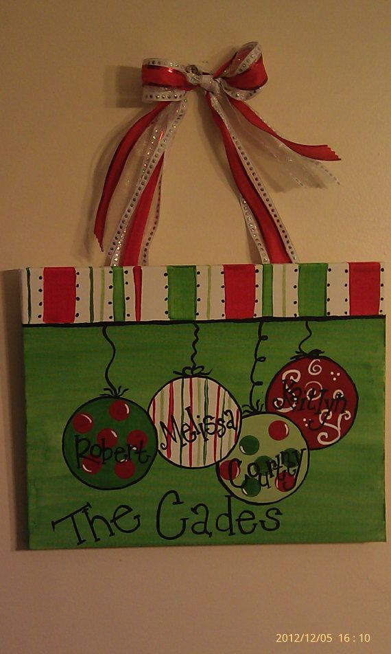 Christmas Canvas By 3BlessedChix On Etsy 2500
