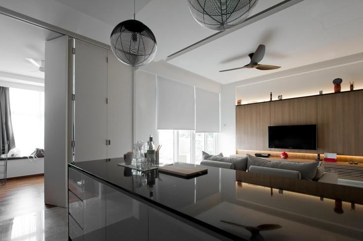 overlooking into living room & adjoining study room