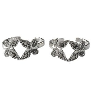 Handcrafted Sterling Silver Marcasite Gemstone Toe Rings Foot Jewelry (Jewelry)  http://balanceddiet.me.uk/lushstuff.php?p=B005IN9HH6  B005IN9HH6