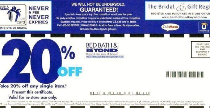 Bed Bath and Beyond Coupon 2015