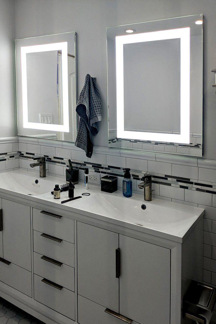 Lighted Led Bathroom Mirror Medicine Cabinet 24 Wide X 36 Tall
