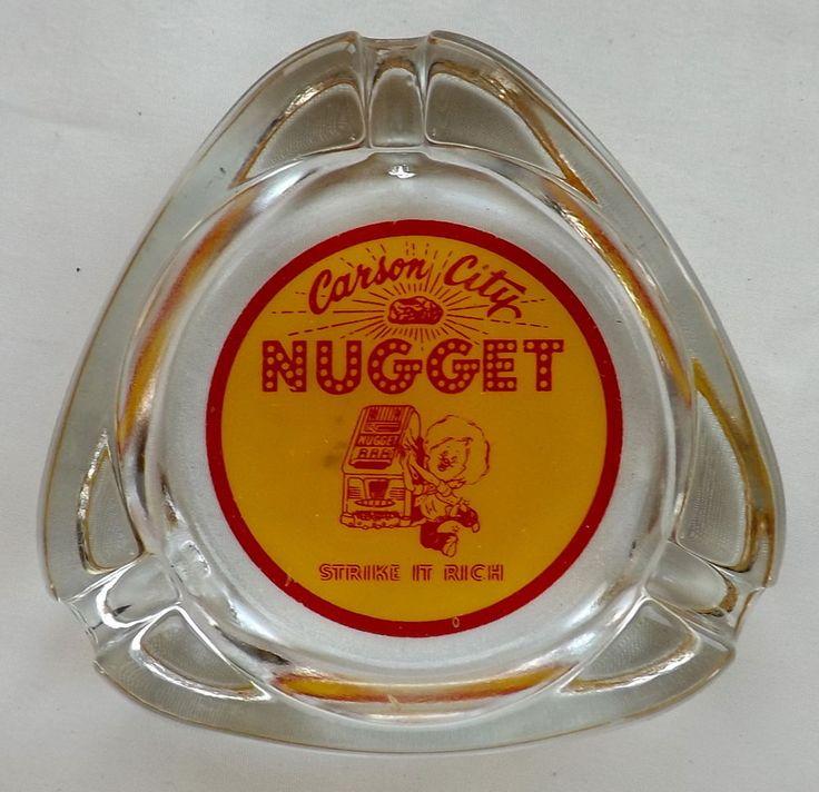 Carson City Nugget Nevada Vintage Triangular Clear Glass