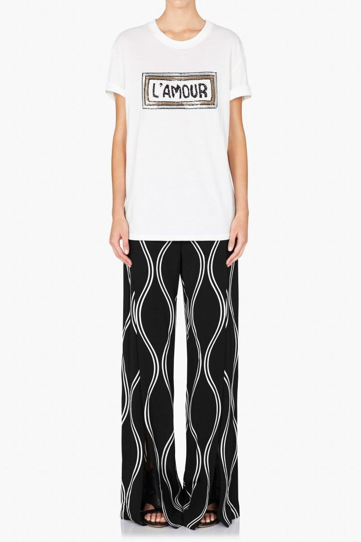 Sass and Bide - True True Love Embellished Tee Ivory One Size Xs Left