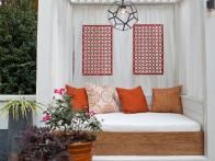 Contractor Chip Wade created these cozy white cabanas as part of a lucky Atlanta couple's  Elbow Room  renovation.