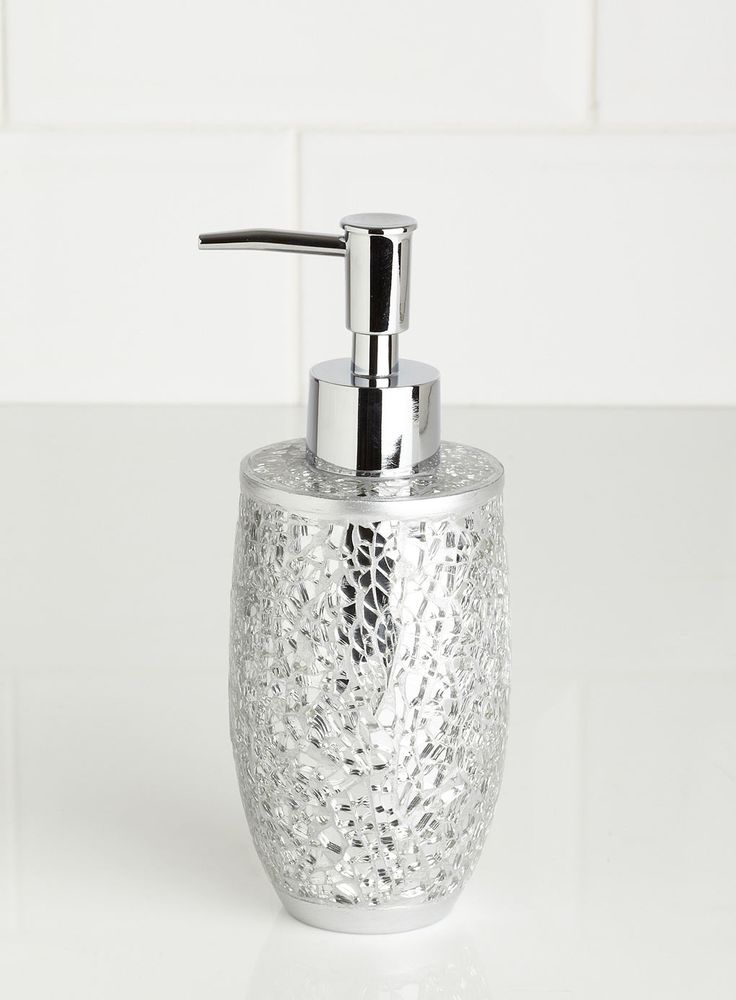 17 best images about ideas for my bathroom on pinterest for Silver crackle glass bathroom accessories