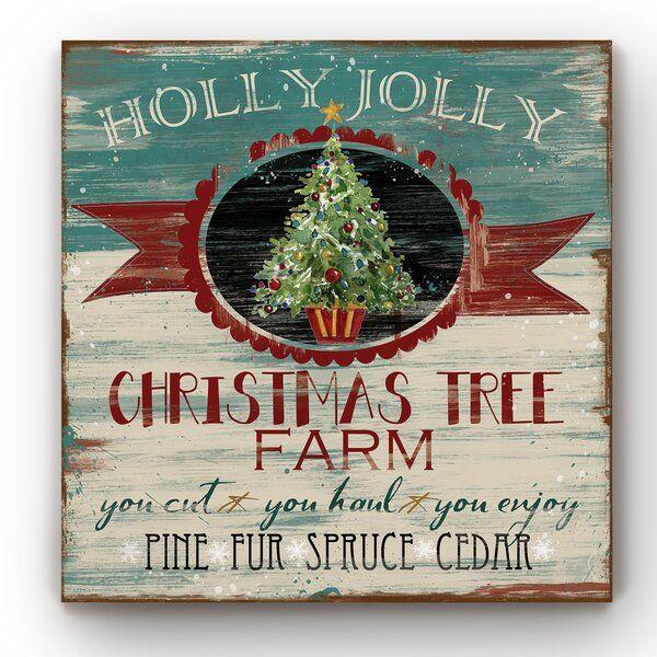 Burlap Shopper Painting Christmas Tree Farm Christmas Paintings Christmas Art