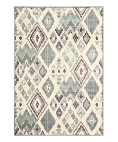 Look what I found on #zulily! Gray Cecile Power Loom Rug #zulilyfinds