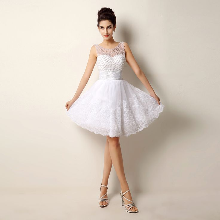 1000  ideas about White Short Wedding Dresses on Pinterest - Short ...