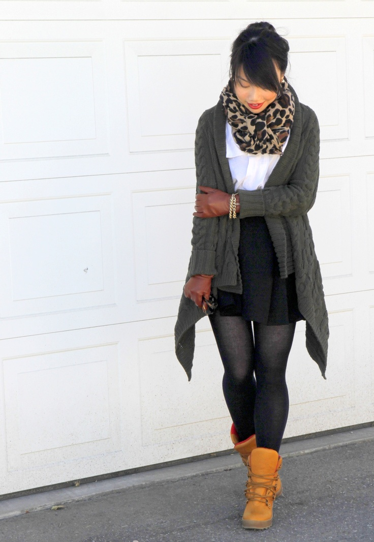 would swap out the boots & add a diff shape sweater :: Cougar Pillow boots (c/o), Zara scarf (similar) and skirt (similar), Kensie top, Joe Fresh jewelry and gloves from local boutique