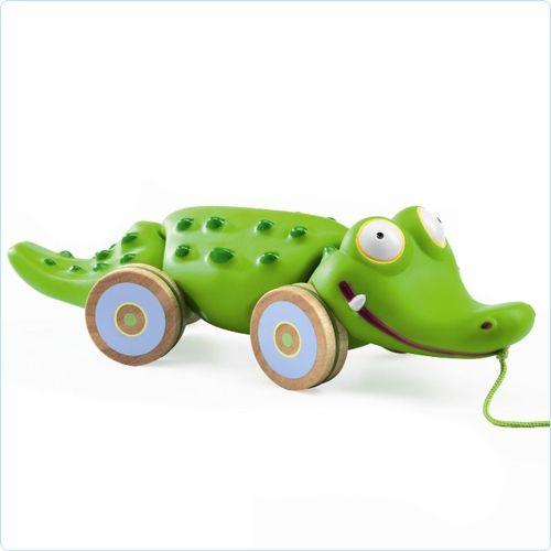 """Djeco Nachziehtier Krokodil """"Croc'n'roll"""" - www.lolakids.de"""