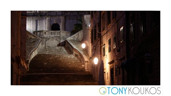 stairs, lanterns, architecture, balcony, windows, night, dubrovnik, croatia, europe, travel, photography, art, Tony koukos