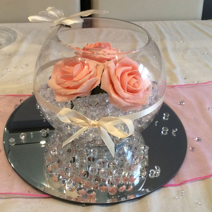 Best images about wedding fish bowl centerpieces on