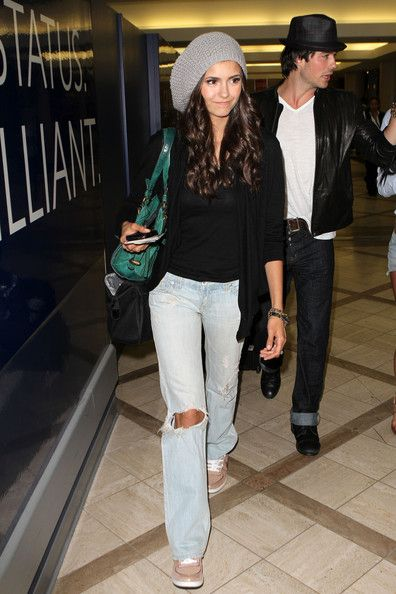 Nina Dobrev Photos: Nina Dobrev & Ian Somerhalder Catching A Flight At LAX