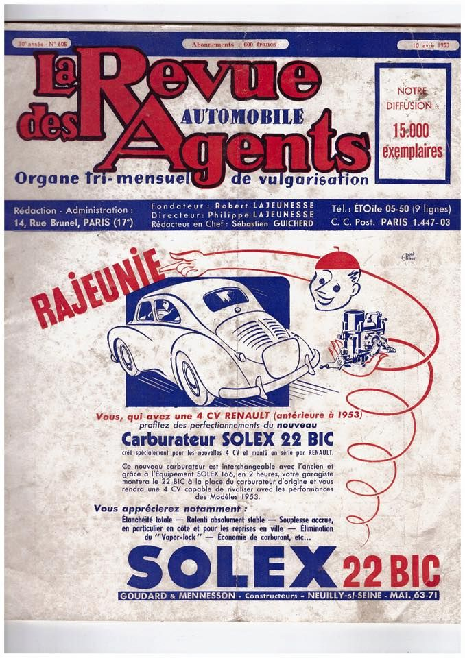 Sales Flyer Renault 4CV
