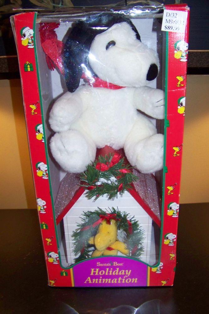 MIB Santa's Best PEANUTS SNOOPY WOODSTOCK Animated Christmas figure RED BARRON