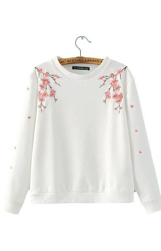 Savannah, Sweatshirts Floral embroidery, Long Sleeve