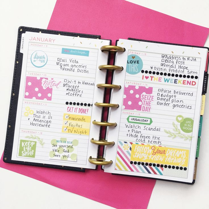 4 Favorite MINI Happy Planner Layouts – Katie The Planner