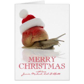Christmas Snail Card
