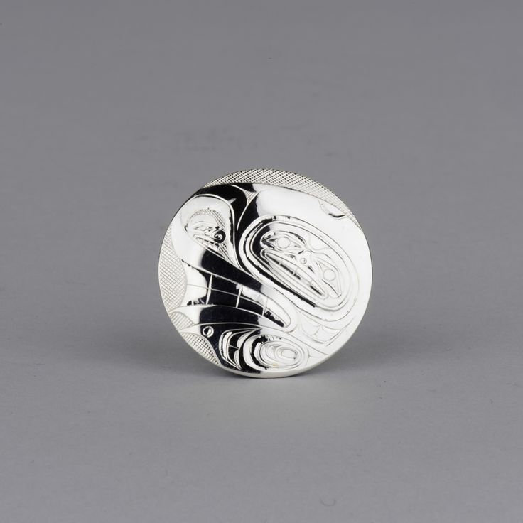 Killer Whale pendant in sterling silver by Haida artist Andrew Williams