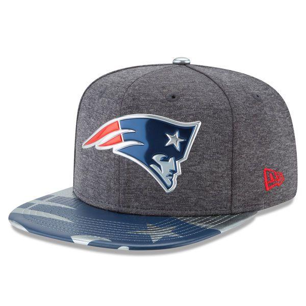 New England Patriots New Era NFL Spotlight Original Fit 9FIFTY Snapback Adjustable Hat - Graphite - $35.99