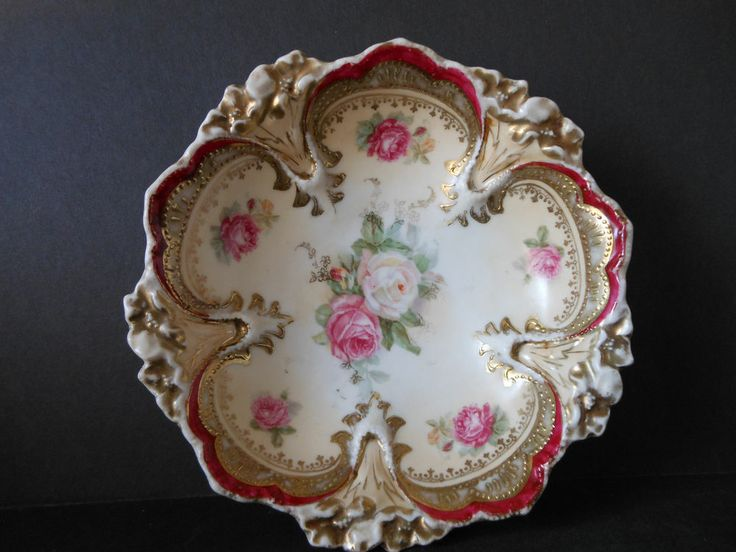 Details About Rs Prussia Hand Painted Signed Red Cherry