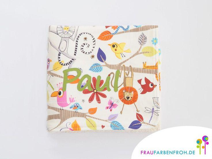 Babydecken - Babydecke KLEINE PAUSE Kuscheldecke Decke - ein Designerstück von Frau-Farbenfroh bei DaWanda