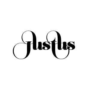 "It could be a misspelled ""justice"" or ""just us"". I think that's cool that the made the letters connect, too."