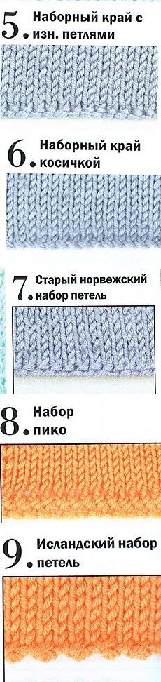 Вязание. Набор петель от классического до необычного.