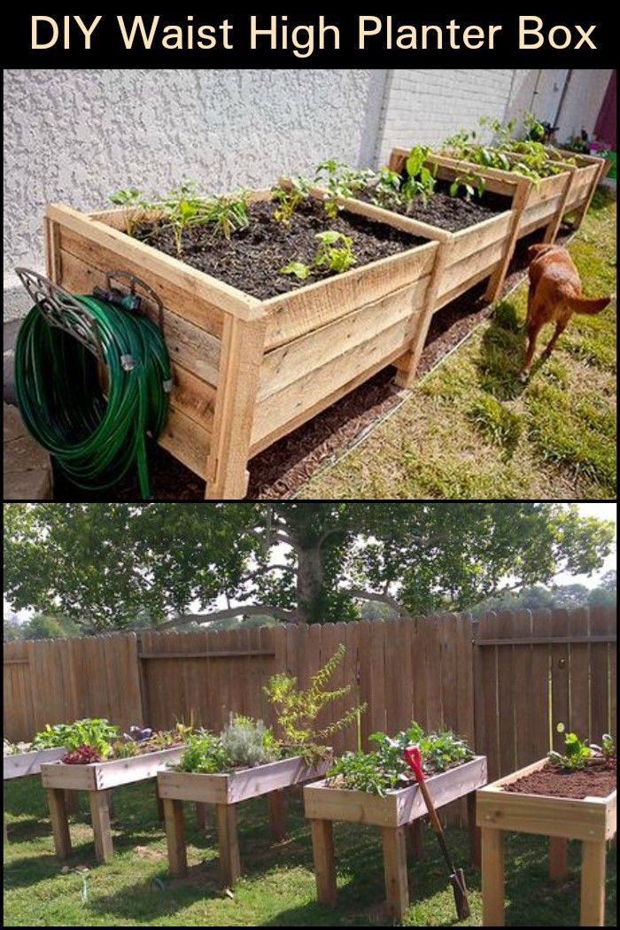 Diy Waist High Planter Box With Images Diy Raised Garden
