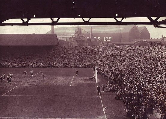Old Trafford in 1939 with a record attendance of 76,962.