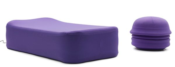 Versatile and comfortable poufs turn into inflatable beds