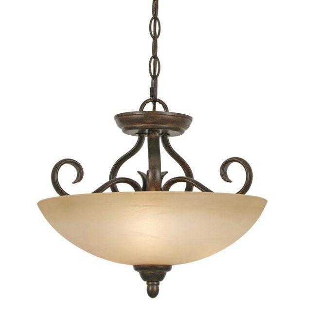 Golden Lighting Riverton Pc Semi Flush Mount Light Peppercorn
