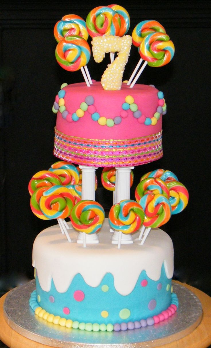 Lollipop Cake  on Cake Central