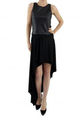 Şifon Etekli Askılı Elbise